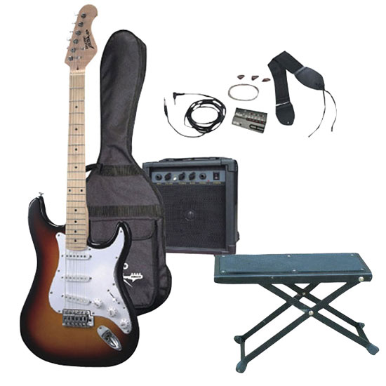 Brilliant Electric Guitar Package W Guitar Amplifier Strings Tuner Bag 3 Color Sunburst Guitar Foot Stool Ktmupk05 Gmtry Best Dining Table And Chair Ideas Images Gmtryco