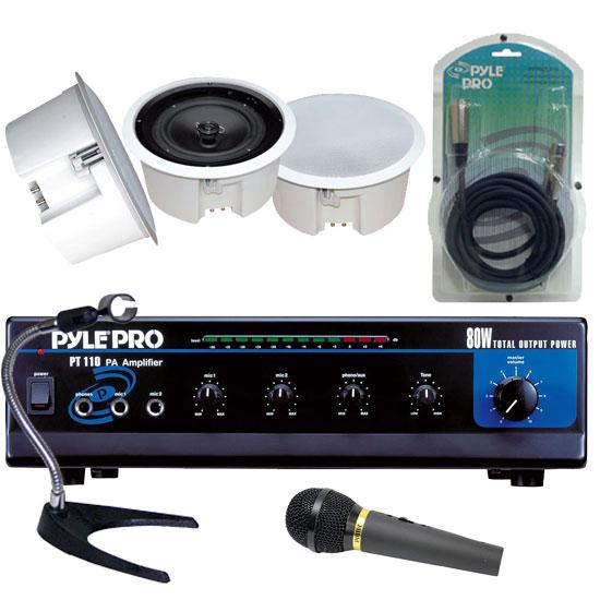80 Watt Ac Dc Microphone Pa Mono Amplifier W 70v Output